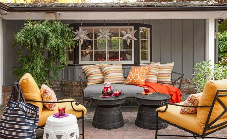 color narnaja cojines mesas acero sofa ideas