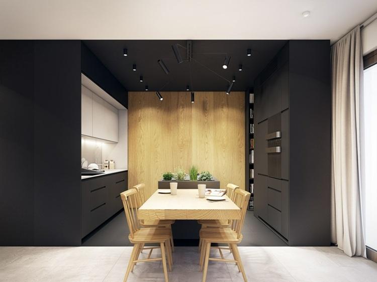 color turquesa cocinas espacios cortinas