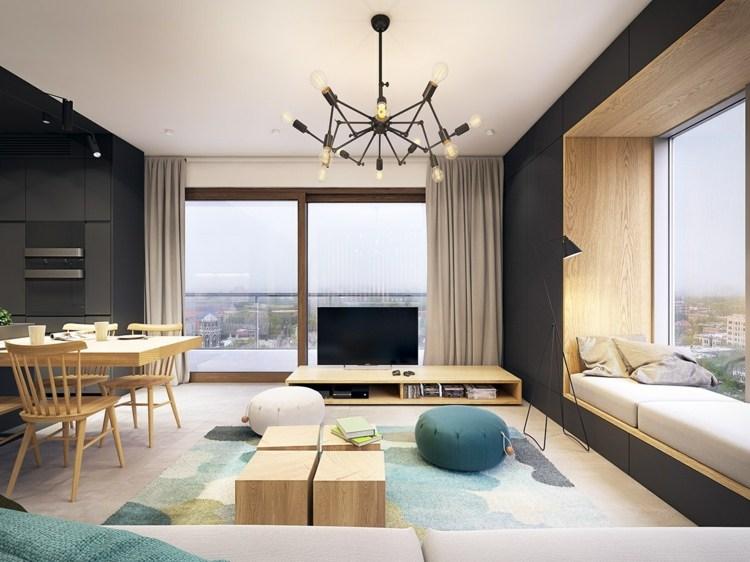 color turquesa frecuentes salas negro