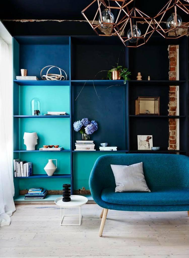 colores intensos azules fuertes cintas