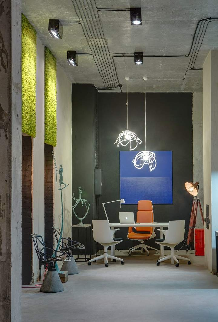 oficinas muestras detalles naranja