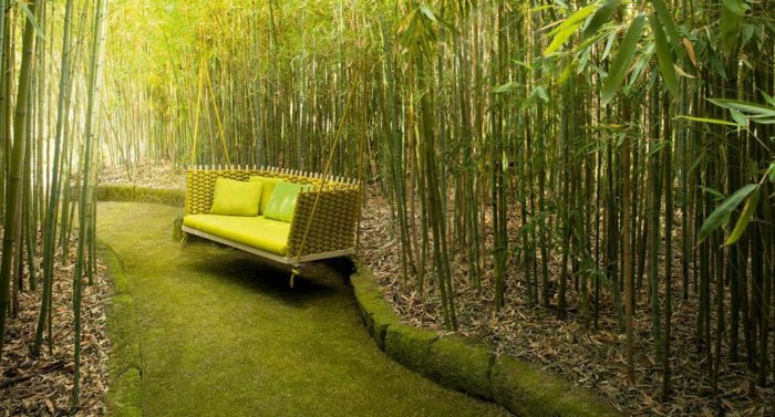 columpios de jardin wabi francesco rota bambu
