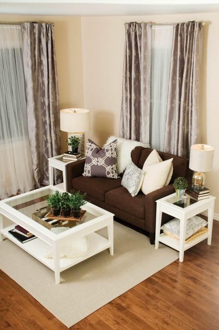 combinacion cortinas tela transparente tela opaca ideas