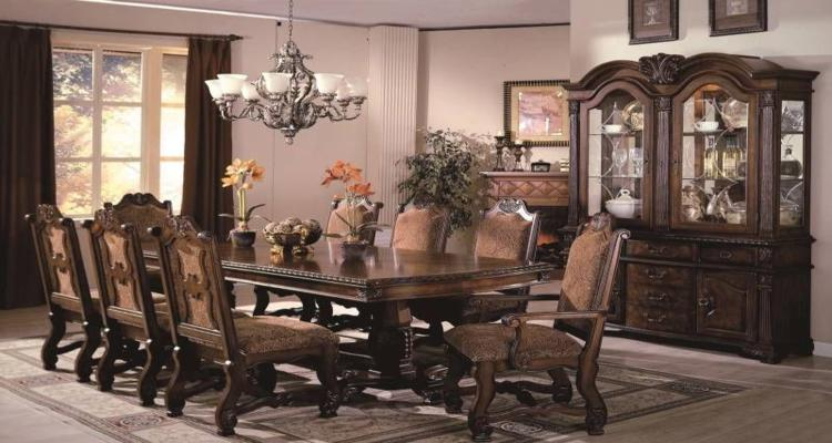 comedor clasico conjunto muebles madera