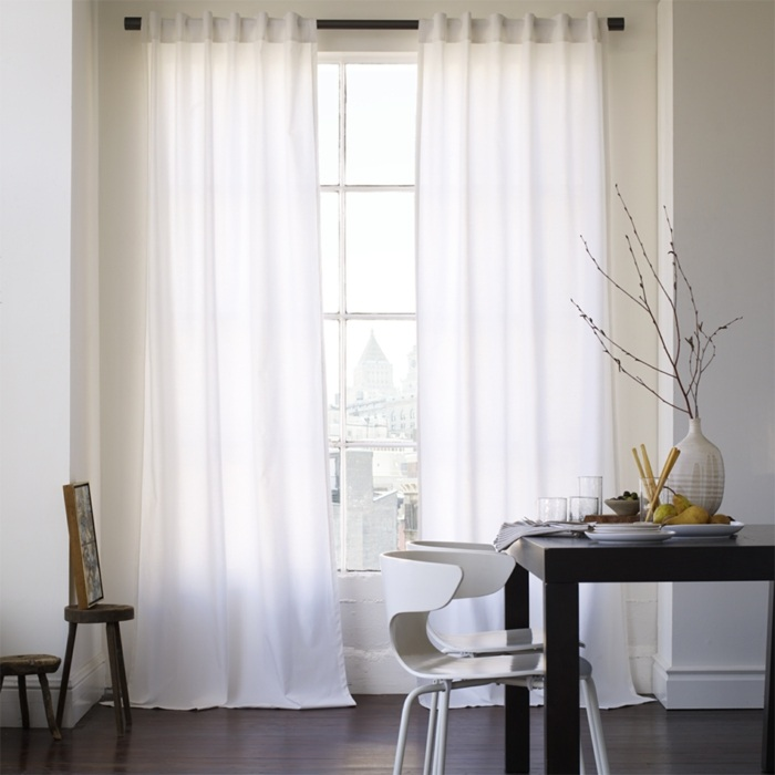 Cortinas modernas 75 ideas que enriquecen el hogar for Cortinas blancas para sala