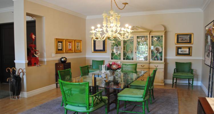 comedor estilo vintage sillas verdes