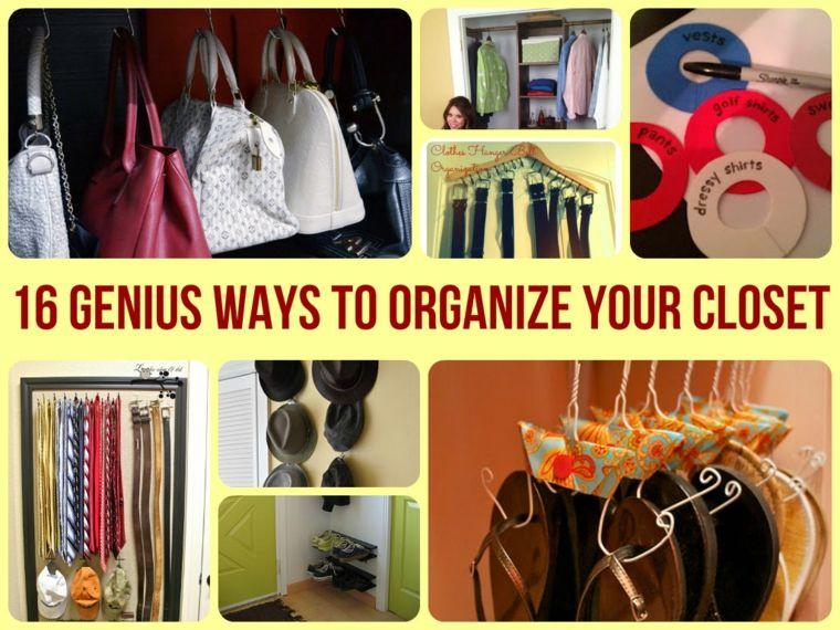 ideas como organizar un armario