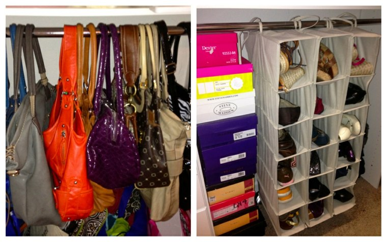 Como organizar un armario 50 ideas tiles y pr cticas - Guardar bolsos en armario ...