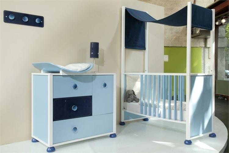 conjunto muebles bebe azul
