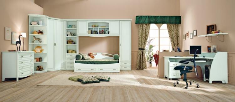 conjunto muebles habitación color celeste