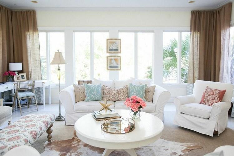 conjunto sillones tapizados blancos