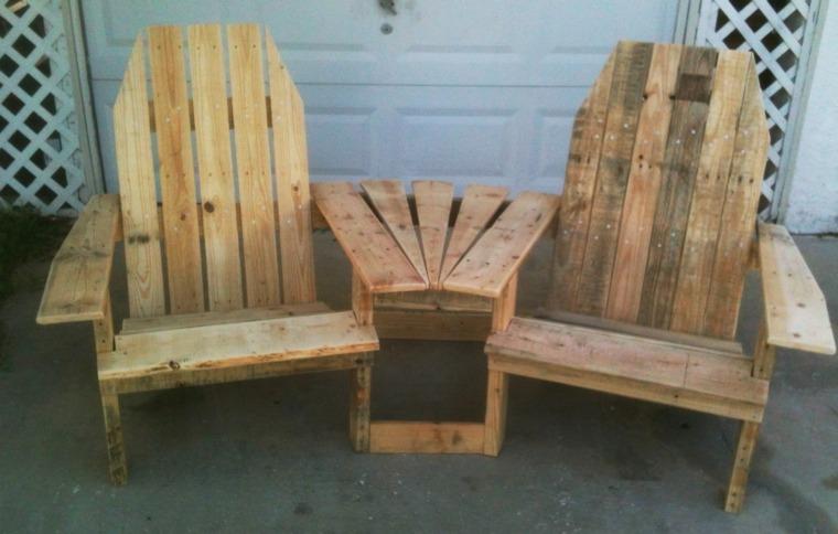 conjunto sillones unidos madera