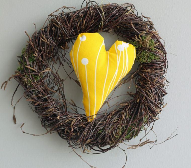 corazon amarillo opciones ramas ideas