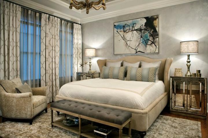 cortinas abiertas muestras taburetes lamparas
