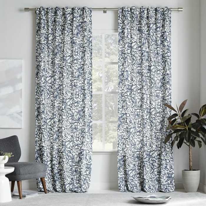 cortinas algodon estampa original caos ideas
