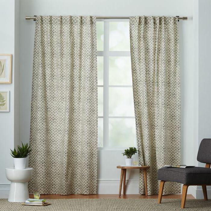 cortinas algodon estampa puntos ideas - Ideas Cortinas