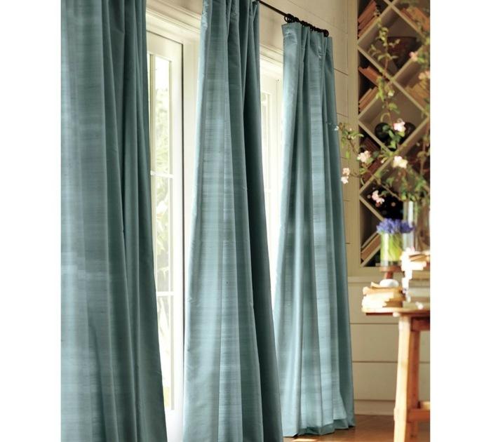 cortinas azuladas preciosas destacan casa ideas