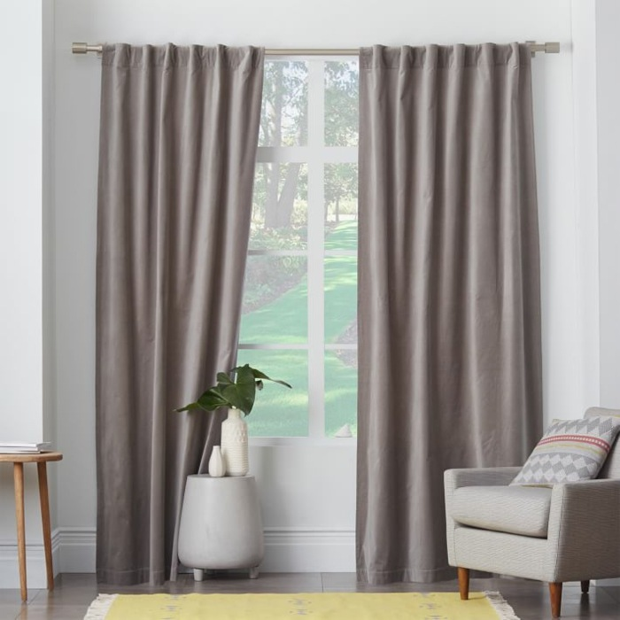 cortinas beige oscuro salon moderno ideas