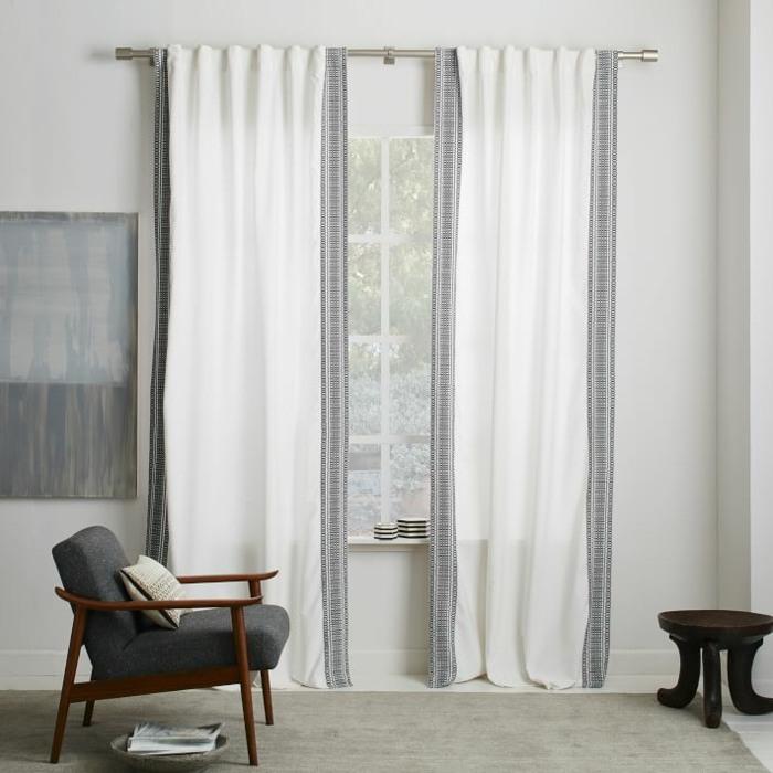 Cortinas modernas 75 ideas que enriquecen el hogar - Cortinas blancas modernas ...
