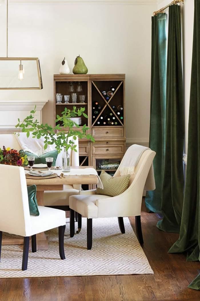 cortinas color verde oscuro natural ideas
