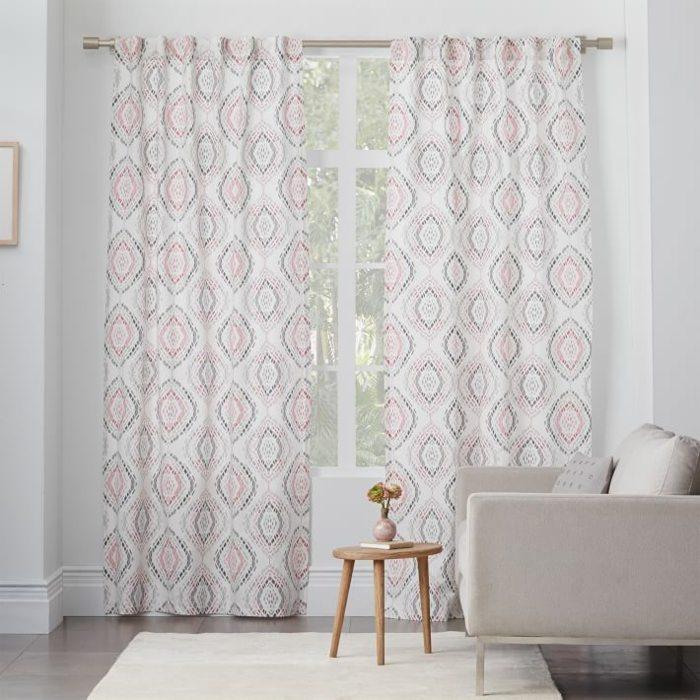 cortinas diseno femenino rosa claro ideas