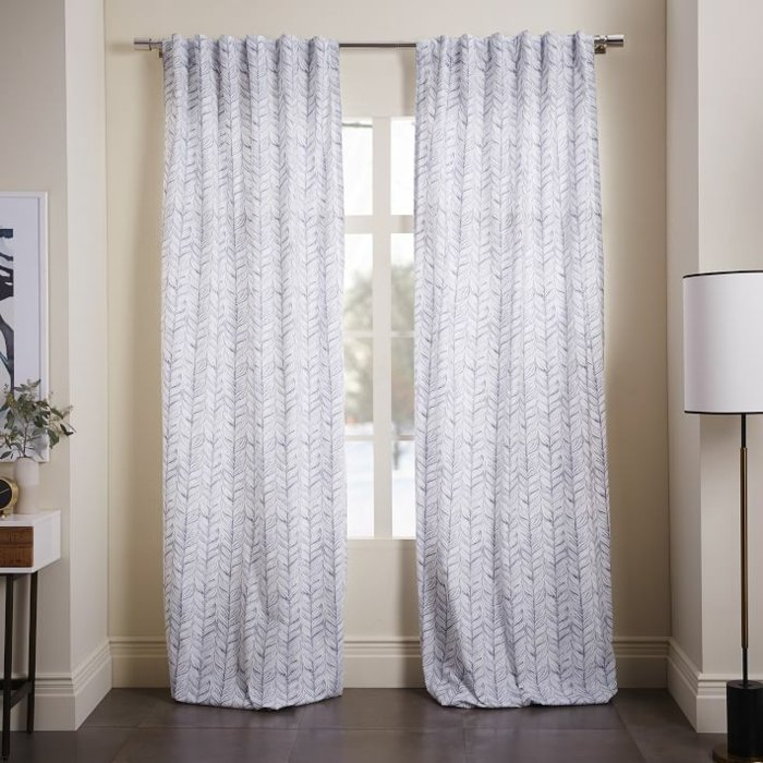 cortinas estampa hojas elegantes modernas ideas