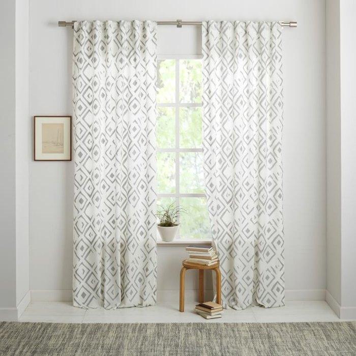 cortinas estampa plateada modernas elegantes ideas
