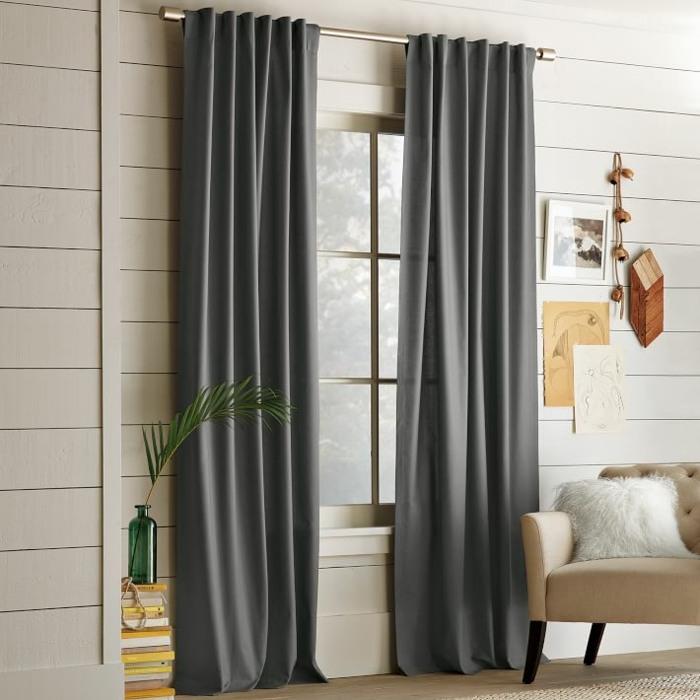 cortinas gris oscuro elegantes modernas ideas