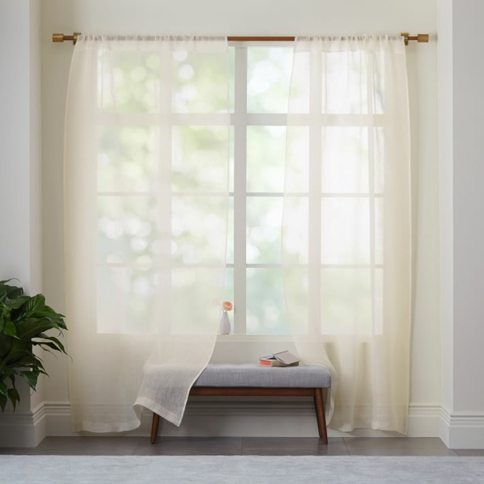 cortinas lino tranparentes amarillo claro ideas