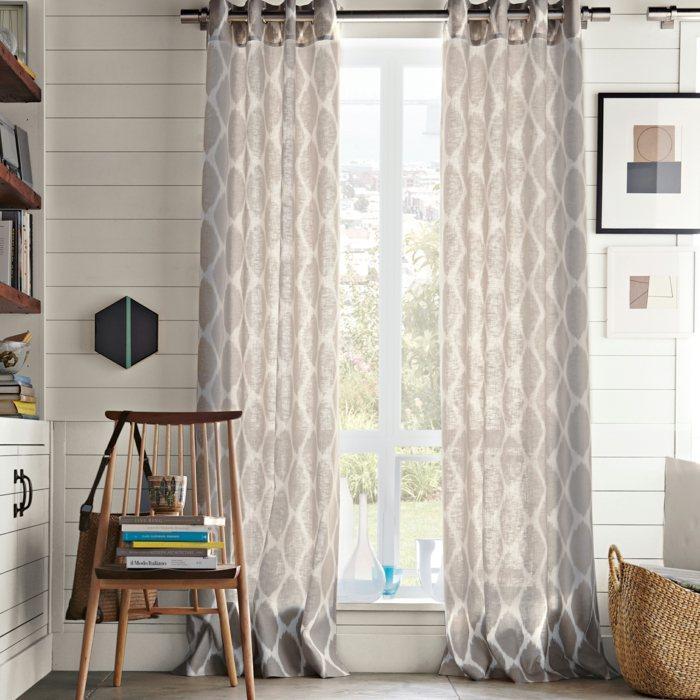 cortinas lino transparentes luz casa moderna ideas