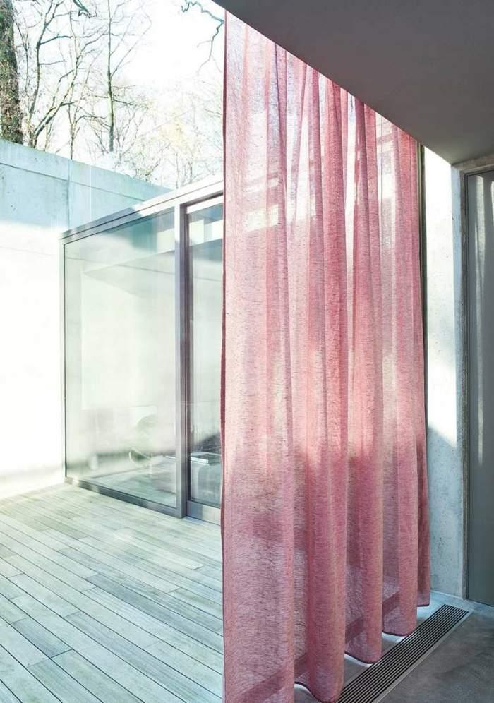 cortinas modernas enriquecen hogar color rosa ideas