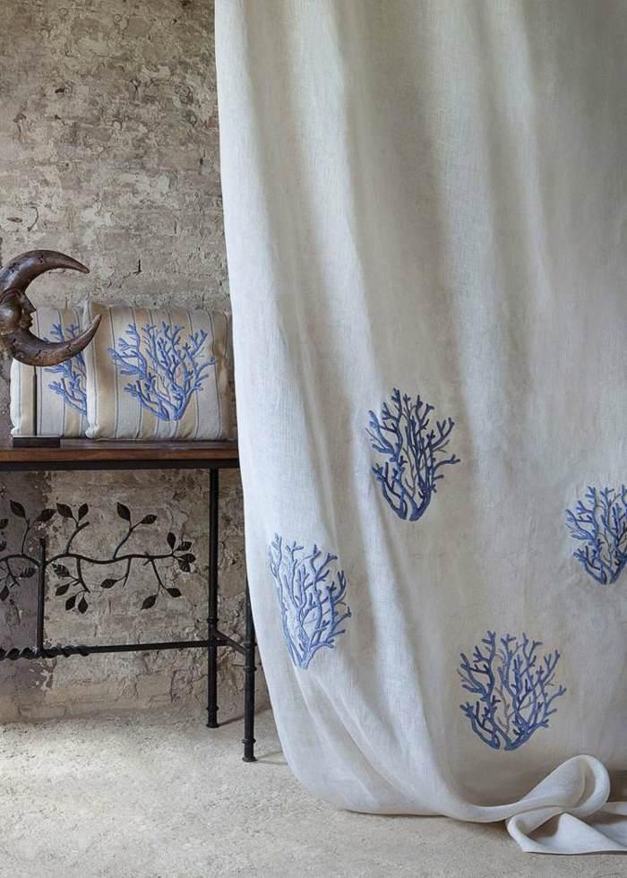 cortinas modernas enriquecen hogar coral estampa ideas