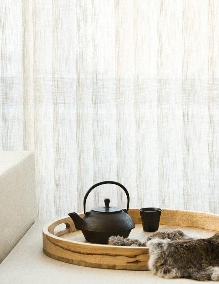 cortinas modernas enriquecen hogar estruactura natural beige ideas