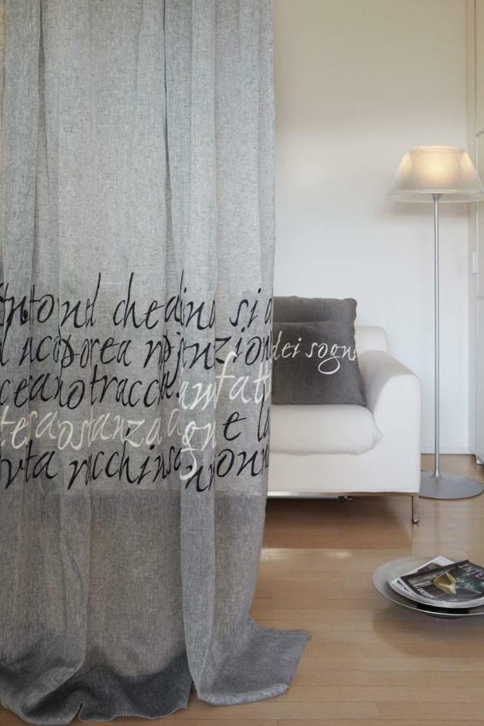 cortinas modernas enriquecen hogar gris letras ideas