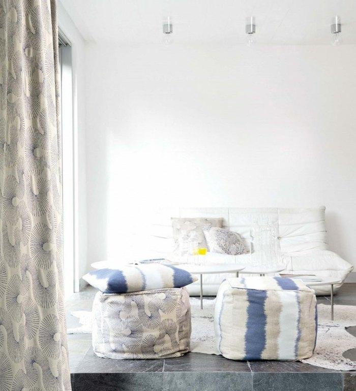 cortina moderna enriquecen hogar misma estampa muebles ideas