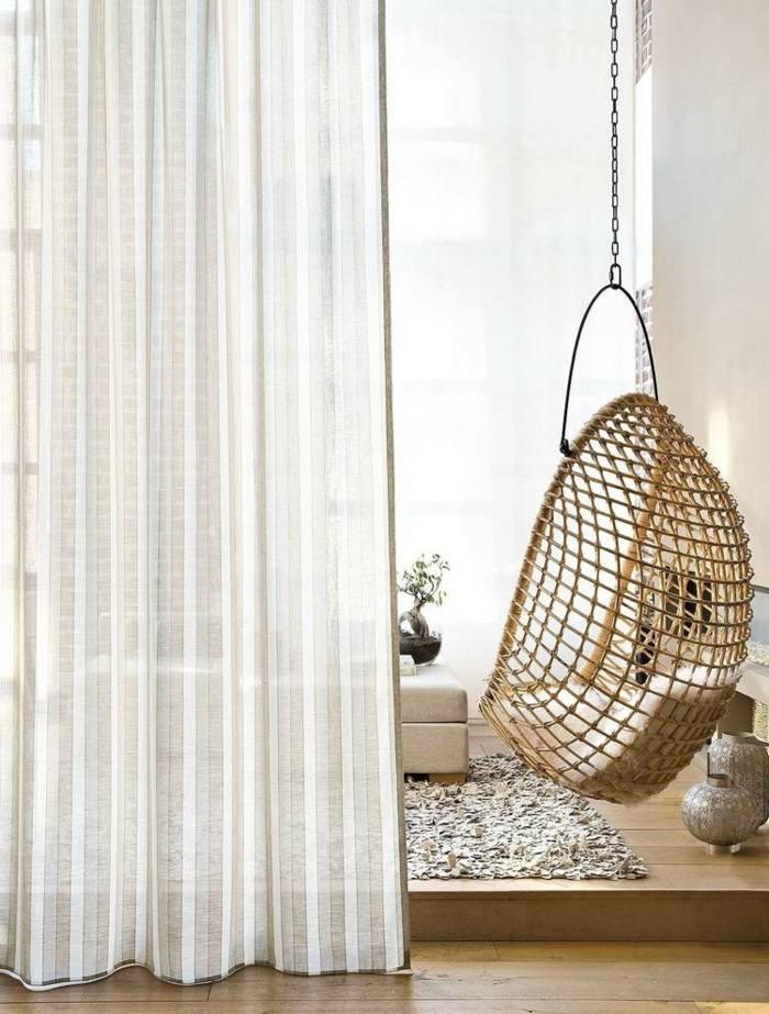 cortina moderna enriquecen hogar natural rayas ideas