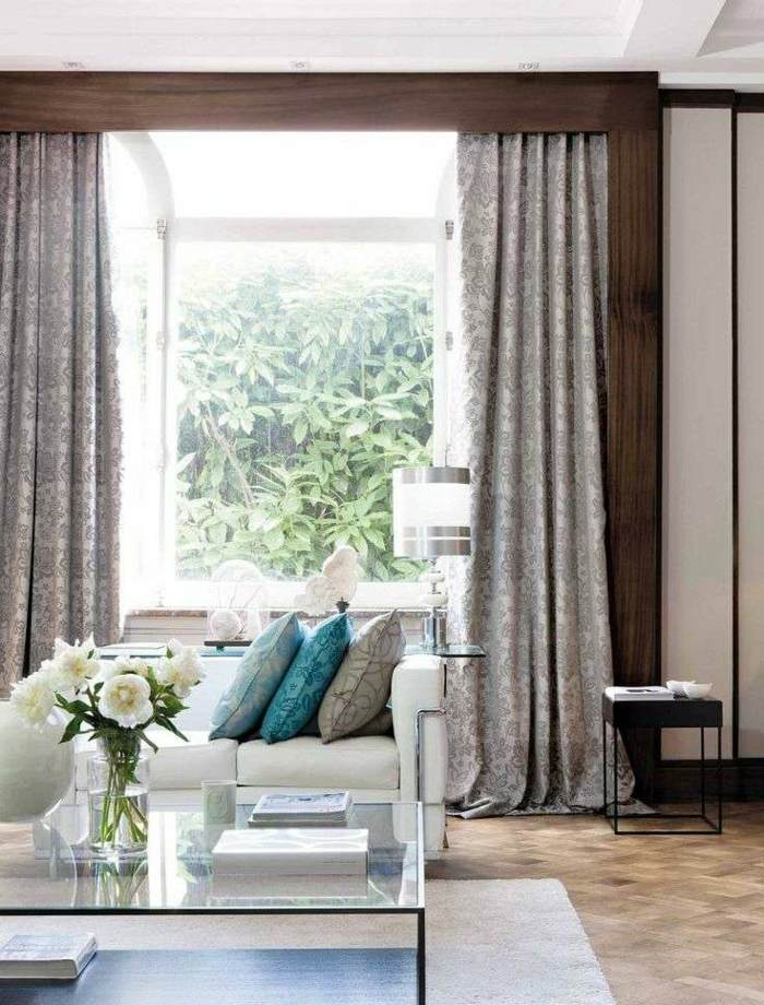 cortina moderna enriquecen hogar ornamentos ideas