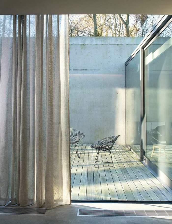 cortina moderna enriquecen hogar separan interior exterior ideas