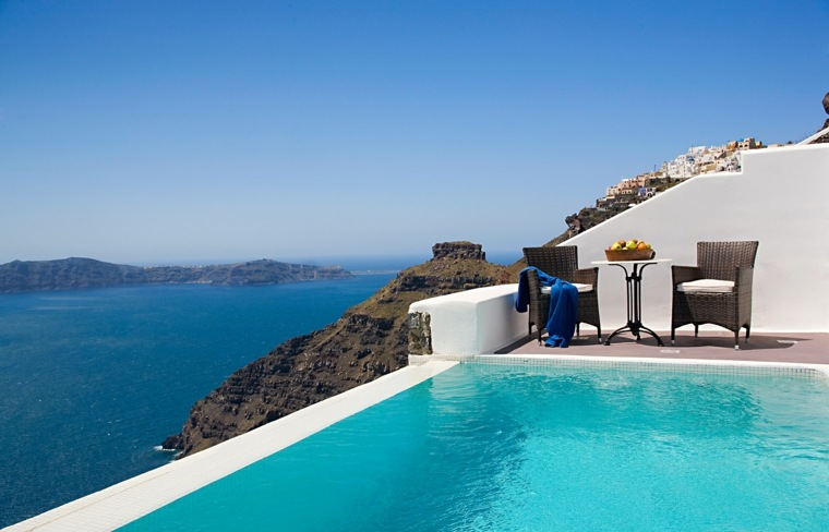 costa mediterranea terraza grecia lugares ensueno ideas