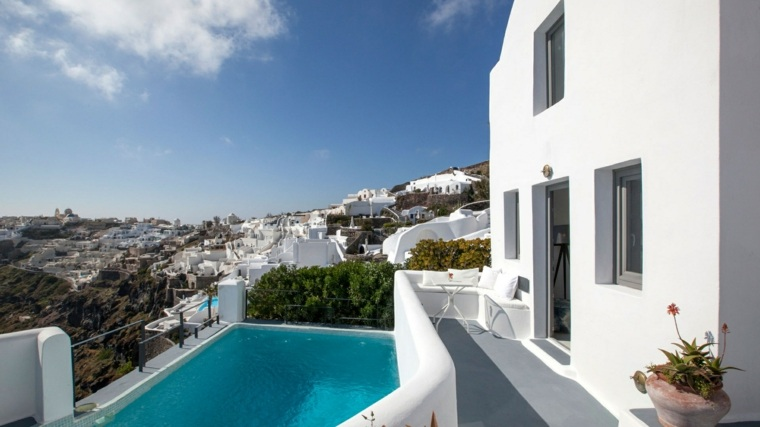costa miditerranea terraza grecia piscina