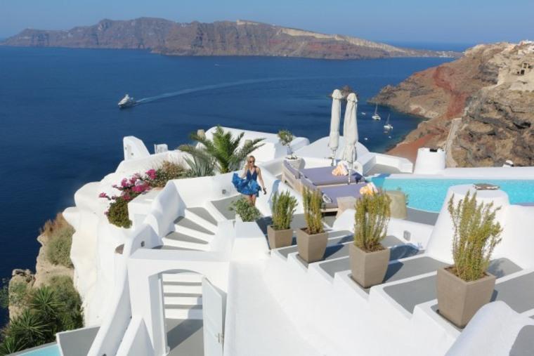 costa miditerranea terraza grecia santorini ideas