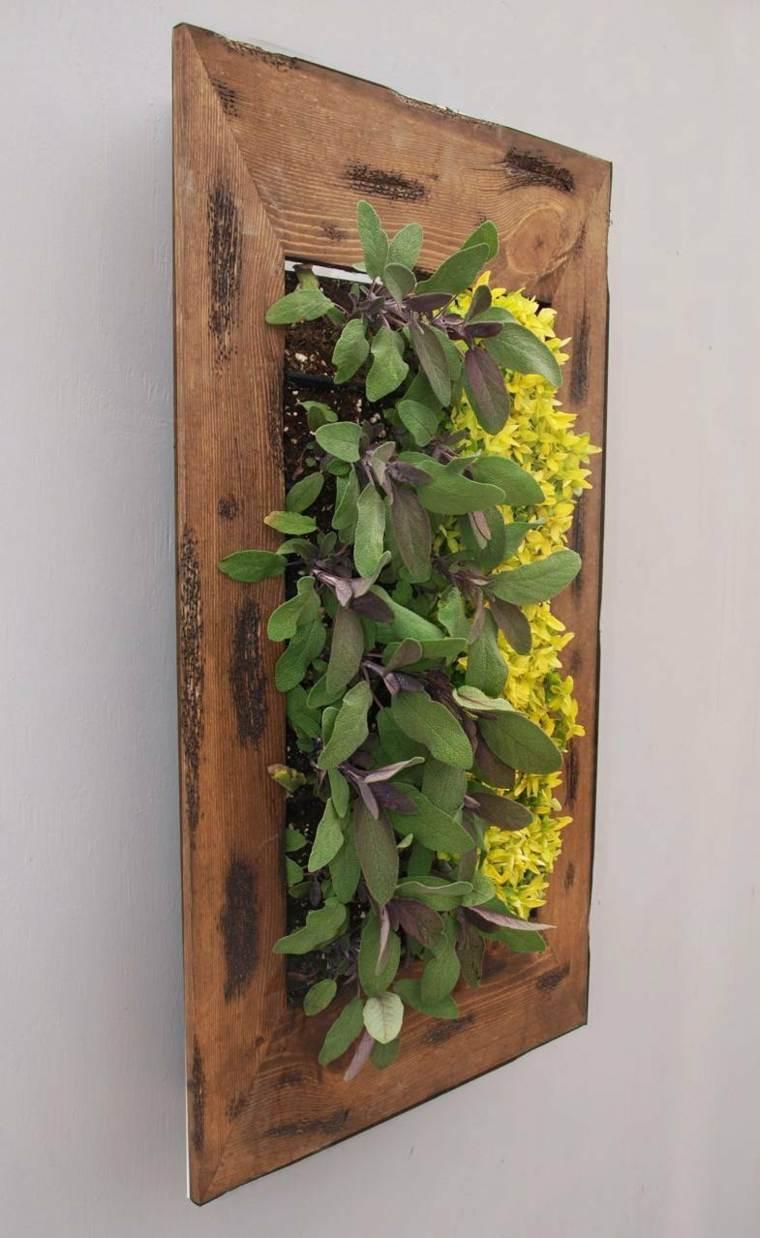 cuadro casero decorado plantas