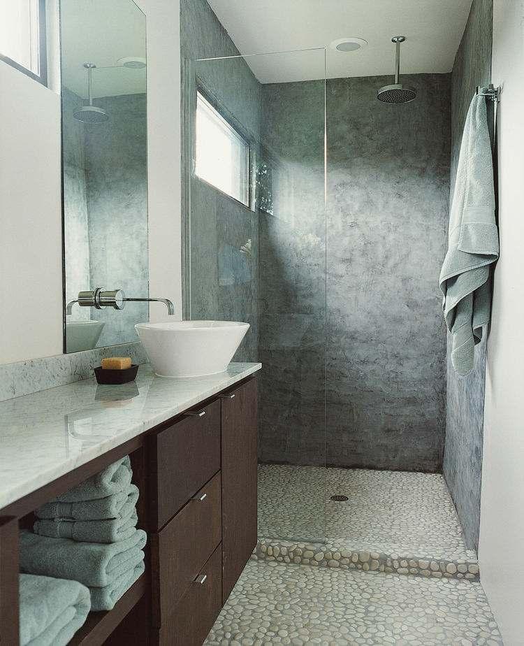 paredes revestidas cemento gris