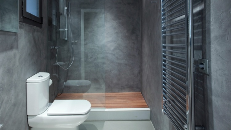 cuarto baño moderno color gris