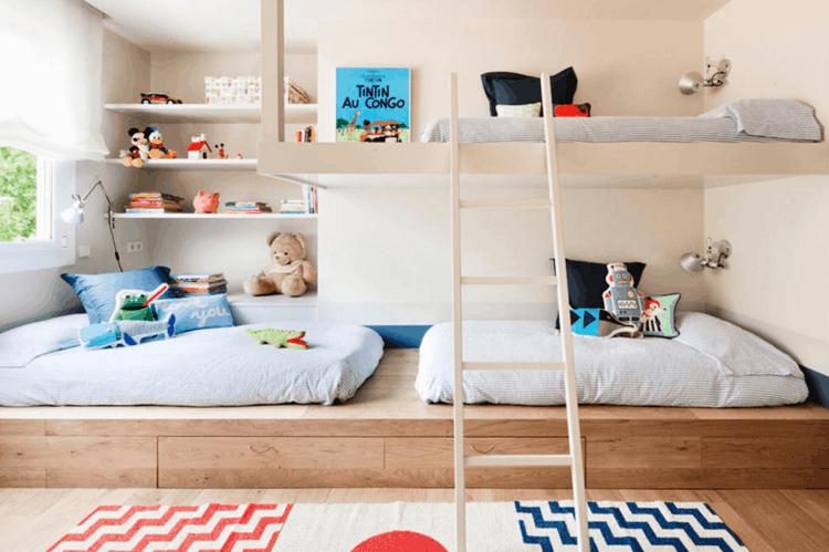 Cuarto infantil diseño moderno - habitaciones compartidas -