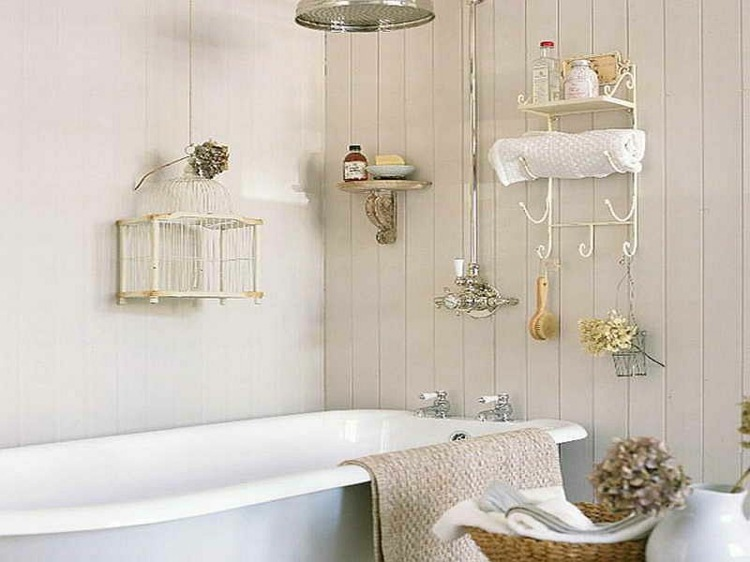 cuartos baño retro shabby