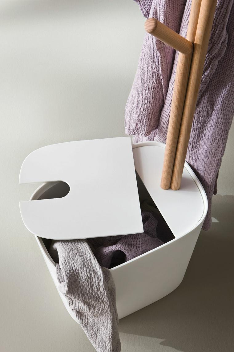 cubo ropa blanco bano moderno ideas