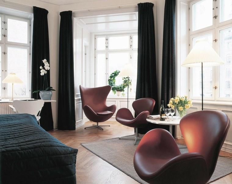 cuero sencillas flores muebles camas cortinas