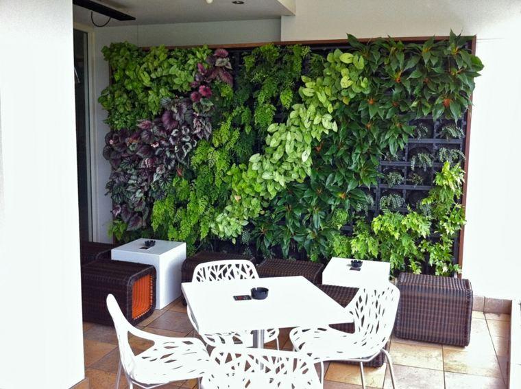 Cultivo hidroponico moderno y dise os de jardines verticales for Plantas recomendadas para jardin vertical