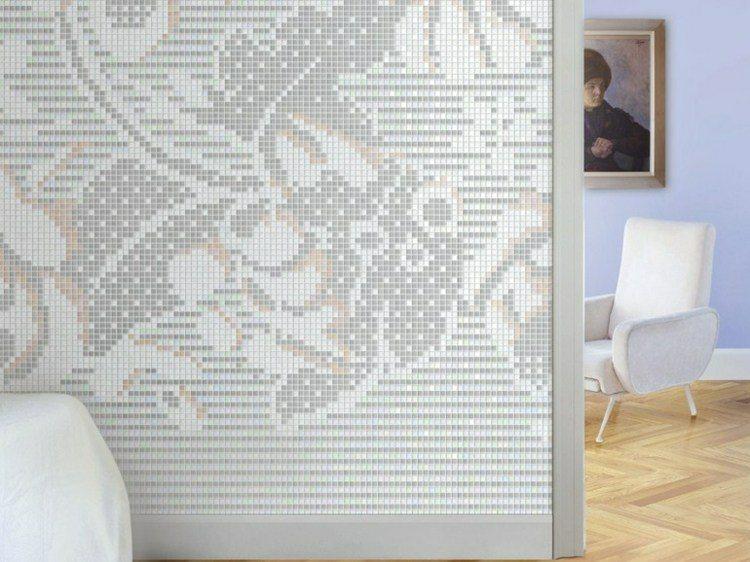 mosaico formas colores flores